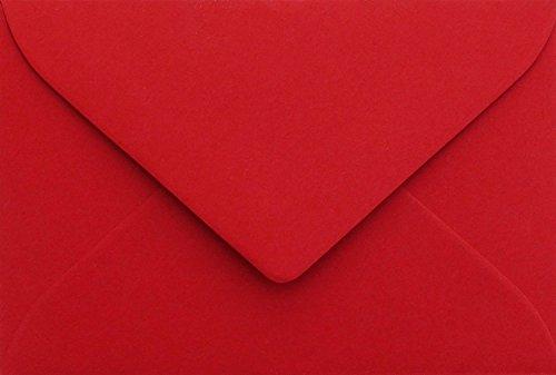 75 Briefumschläge Mini geeignet für Visitenkarten Rosen Rot 6 x 9 cm Verschluss-Technik: feuchtklebend, Grammatur 120 g/m² (Visitenkarten-umschlag)
