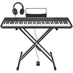Pack Piano de Scene SDP-2 + Support Pedale et Casque par Gear4music