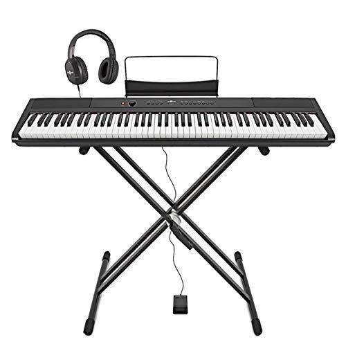 SDP-2 Stage Piano di Gear4music + Stand Pedale e Cuffie