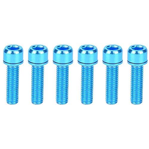 Alomejor M5x25 Schraube 6 Stücke Fahrrad Halterung Schrauben Fahrradträger Zylinderschrauben für Cyclying Teile(Blau)