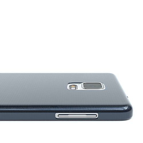 Samsung Galaxy Note 4 Hülle - EAZY CASE Ultra Slim Cover Handyhülle - dünne Schutzhülle aus Silikon in Transparent Brushed Dunkelblau
