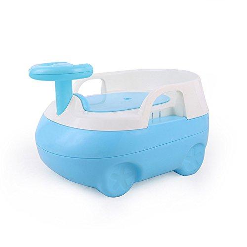 en Ausbildung Stuhl Sitz Junge Mädchen Toilette 2-In-1 Urinal Trainer Pee Kunststoff Tragbare Kammer Topf Extra-Large Größe Auto Form,Blue ()