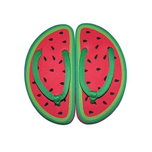 CHENGYANG Femme Eté Flip Flops Créatif FruitsForme Tongs Plage Pantoufles Chaussure Pastèque#1