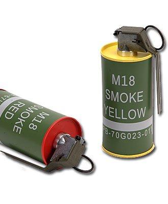 G & G M18 Rauchgranate 2er Set, Ganzmetall Softair Munition