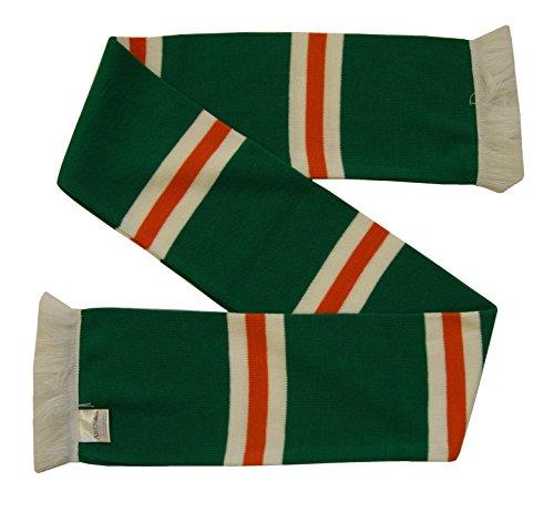 Keltischer Stil Schal, Gestreift in grün/weiß/tangerine (Grün Schal Gestreiften)