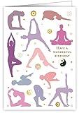 Geburtstagskarte–Yoga