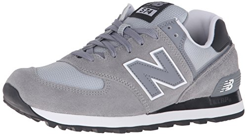 New Balance 574, Scarpe Running Uomo, Argento (Steel 071), 45 EU