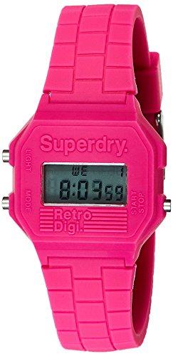 Superdry Damen Digital Quarz Uhr mit Silikon Armband SYLSYL201P