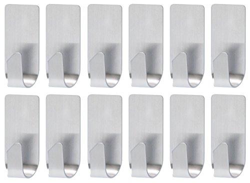Produktbild 12x tesa Haken, wasserfest für Dusche und Bad, Metall, durch Powerstips wieder ablösbar (12)