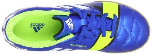 adidas nitrocharge 3.0 IN J, Chaussures de football garçon Bleu - Blau (BLUE BEAUTY F10 / RUNNING WHITE FTW / ELECTRICITY)
