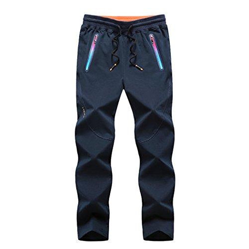 walk-leader da uomo pantaloni Jogging pantaloni Sport Outdoor Blue Large