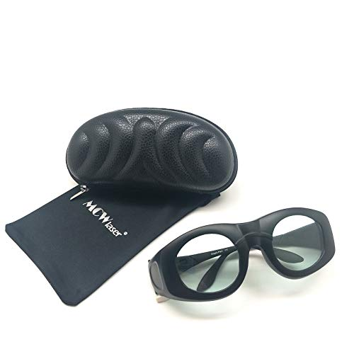 MCWlaser Gafas Protectoras de Seguridad láser para 980-2500 NM Tipo de absorción Continua para Belleza láser Enrojecimiento Facial Cirugía de depilación Industrial EP-10