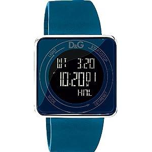 D&G Reloj Digital para Unisex de Cuarzo con Correa en Caucho DW0736