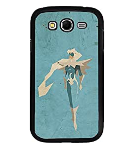 Fuson Premium 2D Back Case Cover Robot With blue Background Degined For Samsung Galaxy Grand Neo::Samsung Galaxy Grand Neo i9060