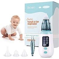 Aspiratore nasale, detergente nasale per ricarica USB Bichiro con 3 livelli di aspirazione, rimozione cerume auricolare…