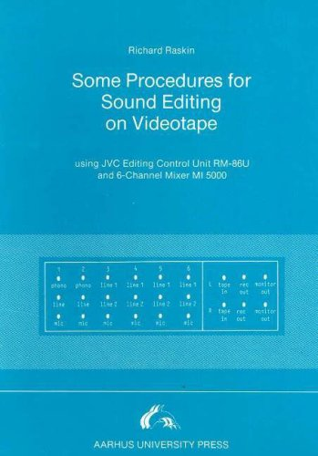 Some Procedures for Sound Editing on Videotape: Using Jvc Editing Control Unit RM-86U and 6-Channel Mixer MI 5000 Video Control Unit