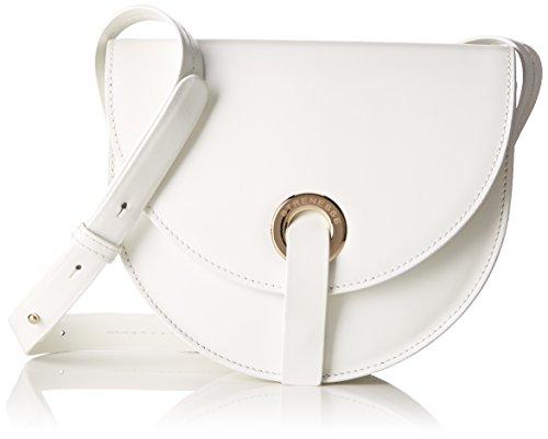 Strenesse Damen Bag Joplin Umhängetasche, Weiß (Optic White), 6,5x17x21 cm