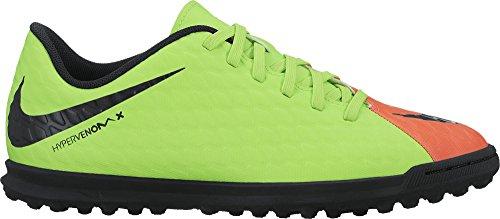 Nike Jr Hypervenomx Phade Iii Tf, Chaussures de Football Entrainement garçon Vert (Elctrc Green/black-hyper Orange-volt)