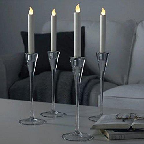 IKEA LJUSANDE LED Kerzen in naturfarben; batteriebetrieben; 4 Stück