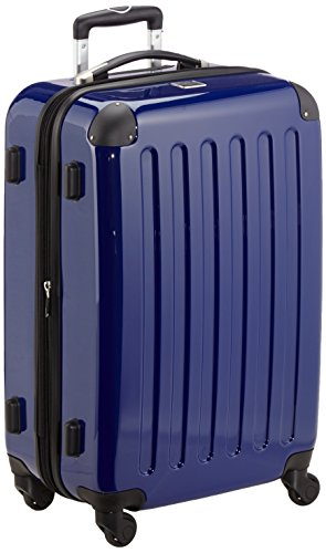 HAUPTSTADTKOFFER - Alex - Hartschalen-Koffer Koffer Trolley Rollkoffer Reisekoffer Erweiterbar,  4 Rollen, 65 cm, 74 Liter, Dunkelblau