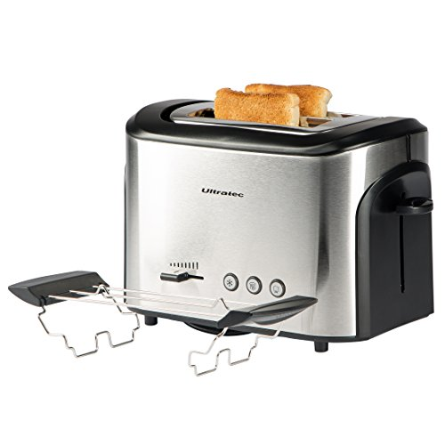 Ultratec Automatik-Toaster AT-30 Edelstahl/Schwarz, 800 Watt, ca. 34,7 x 24,7 x 26,7 cm