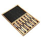 LouiseEvel215 12st Holzschnitzerei Meißel Set Sharp Holzverarbeitung Hand Messer Werkzeuge Gouges Stahl DIY Holzschnitt Arbeitsberufs