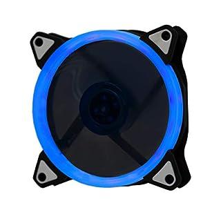 Lilware BoostPro 120mm Luftstrom, mit Einfarbiger LED, Leise, und Hochleistungsfähigen Lüfter. Blau