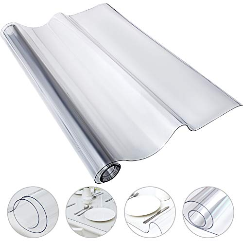 HODOY Copertura Protettiva Trasparente per Tavolo, PVC Tovaglia Plastificata (1070 * 2134 * 1.5mm)