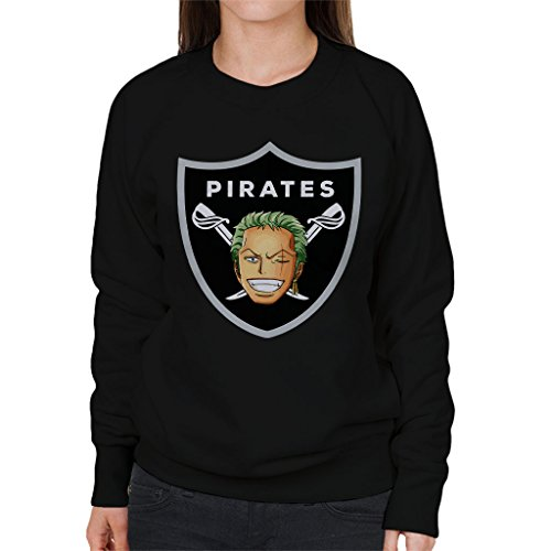 Roronoa Zoro Pirates Raiders Logo One Piece Women's Sweatshirt