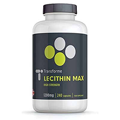 Lecithin 1200mg Memory Plant Supplement - 240 Capsules from Transforme