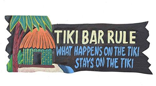 Tiki-Bar-Rule-Cartel-50-cm-Decoracin-para-su-Lounge-Rango