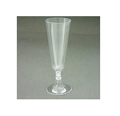 Disposable Plastic Champagne Flutes Wine Glasses Disposable Party Glass (24 Flutes)