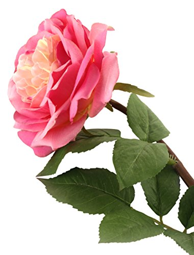 Floral Elegance F059LPL- Rose artificielle rose de 92 cm