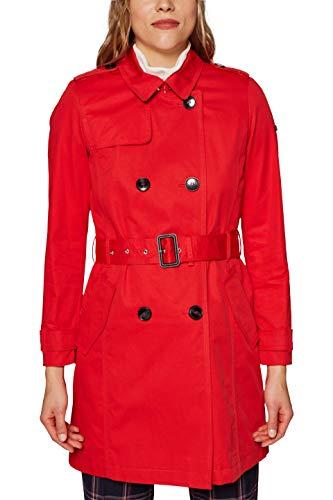 ESPRIT Damen Mantel 128EE1G006, Rot (Red 630), Small (Herstellergröße:S)