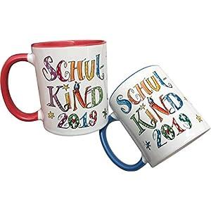 Tasse Schulkind 2019 mit Namen, personalisierte Kindertasse, Rosirosinchen