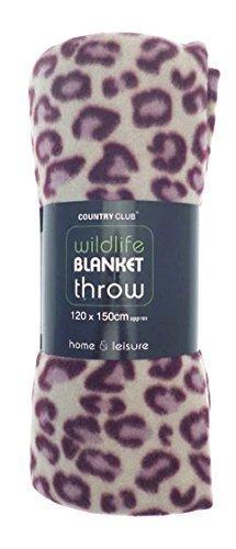 Wildlife! Fleece blanket / throw (Pink Leopard) by Beamfeature (Leopard Fleece Pink)