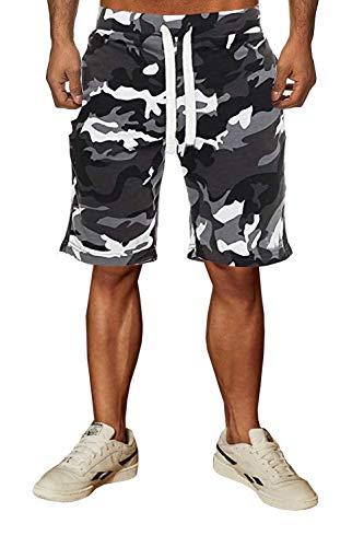 Lantch Herren Shorts Cargo Hosen Camouflage Hose Sporthose Freizeit Jogginghose Sweathose Tunnelzug(gaw,m) - Männer Camouflage