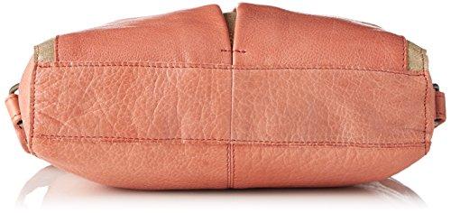 PIECES Damen Pcjace Leather Cross Over Bag Schultertasche, 5x15x21 cm Orange (Aragon)