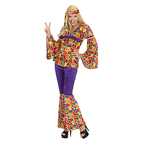 Widmann - Erwachsenenkostüm - Kostüm Flower Power Hippie Femme