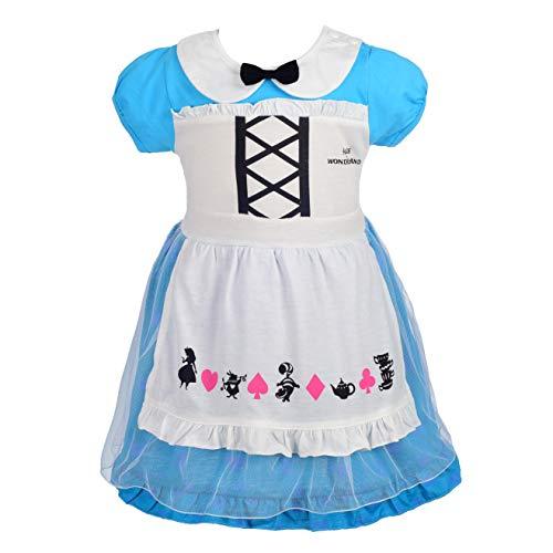 Alice Kostüm Mädchen - Lito Angels Baby Mädchen Prinzessin Alice Kleid Kostüm Weihnachten Halloween Party Verkleidung Karneval Cosplay Kinder 18-24 Monate