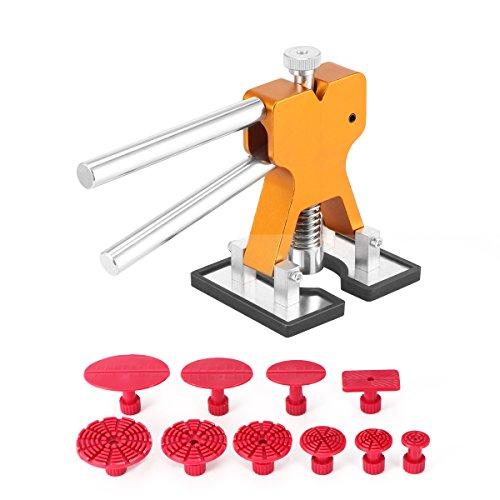 AOZBZ PDR Dent Repair Kit, Dent Reparatur Werkzeuge Setzen Dent Puller Golden Dent Lifter mit 10 PDR Kleber Tabs Auto Körper Dent Entfernungs-Tools Car Dent Removal Tool Kit (Dent Removal-tools)