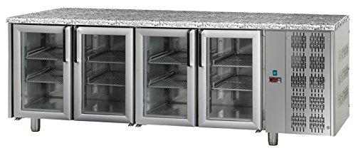 Bäckereikühltisch 4 Türen mit Granitarbeitsplatte;