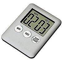 ONEVER Timer cucina  Fashion Simple Super Thin LCD Digital Screen Timer da cucina Quadrato Timer da cucina Count Up Countdown Allarme con magnete  Argento
