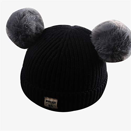 -und Winter-Kinder, koreanische Version der Baby-Haar-Ball-Kappe, Baby-mit Kapuze Warmer Hut,E ()