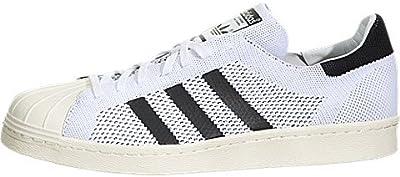 Adidas Superstar 80 Primeknit - Blanco / Negro Blanco-off, 7,5 D con nosotros