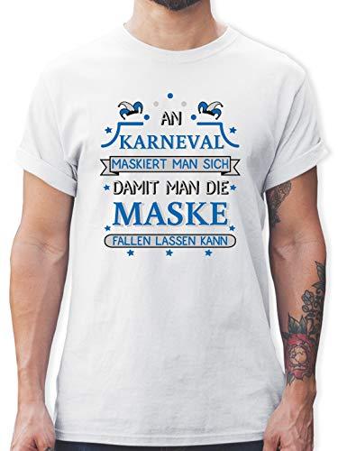 Kostüm Maskierte Weiß - Karneval & Fasching - An Karneval maskiert Man Sich damit Man die Maske Fallen Lassen kann Blau - 3XL - Weiß - L190 - Herren T-Shirt und Männer Tshirt