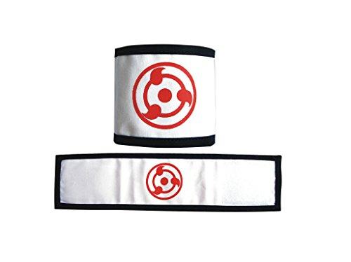 Mtxc Naruto Cosplay Accesorios Uchiha Itachi Syaringan Pulseras Blanco