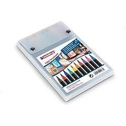 Edding 1340 - Rotulador con punta de pincel, 10 unidades, varios colores