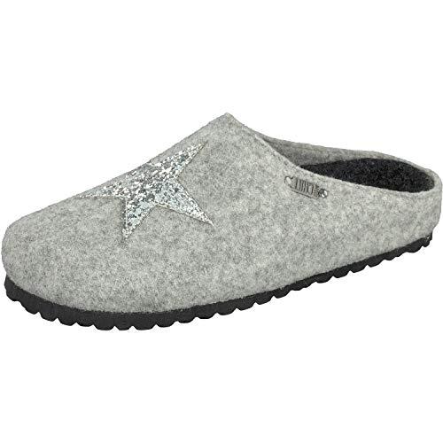 Supersoft Damen 522 223 Pantoffeln, Grau (Lt. Grey 224), 41 EU