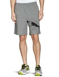 Puma Herren Bermuda Sweat Logo, medium gray heather, S, 819480 03